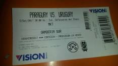 Entrada Paraguay vs. Uruguay