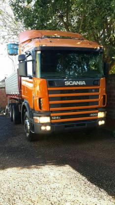 Scania 124-400 tumba rebatible doble eje 1998