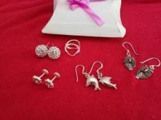 Aros y anillos de plata