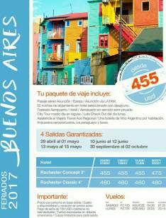 Viaje a Buenos Aires 30 setiembre al 2 octubre 2017