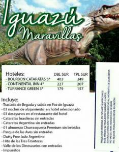 Viaje de fin de semana a las cataratas de Iguazú