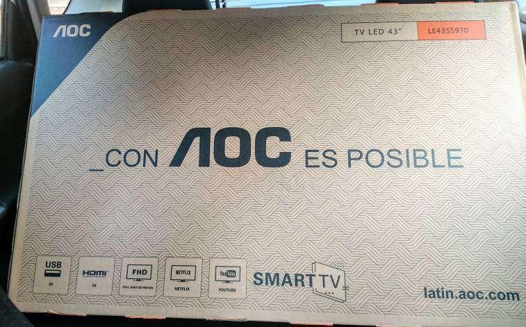 Smart Tv AOC de 43 pulgadas nuevas - 0