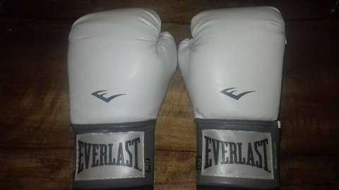 Guantes de boxeo blanco everlast