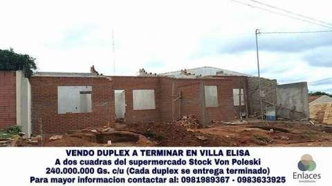 Duplex en Villa Elisa barrio Sol de América