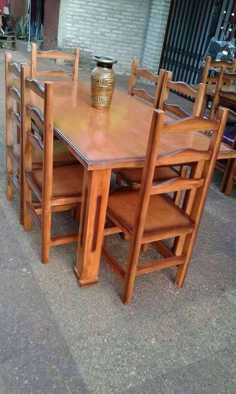 Juego comedor de seis sillas muebles for Comedor seis sillas