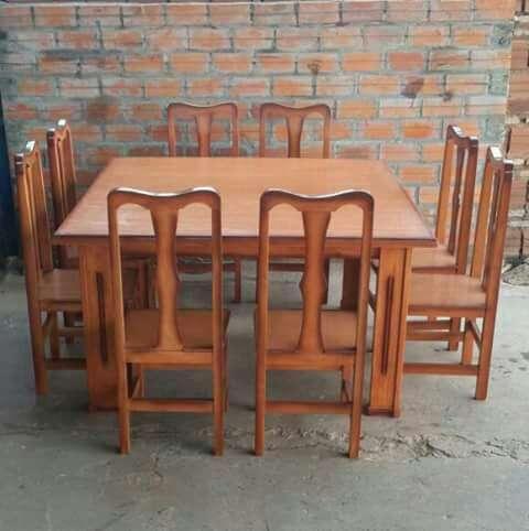 Comedor de ocho sillas mesa cuadrada