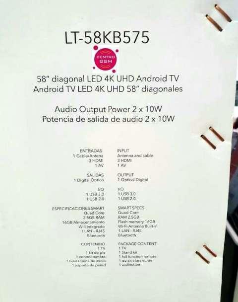 Smart TV JVC 4K UHD 58 pulgadas nuevas - Luis - ID 382393