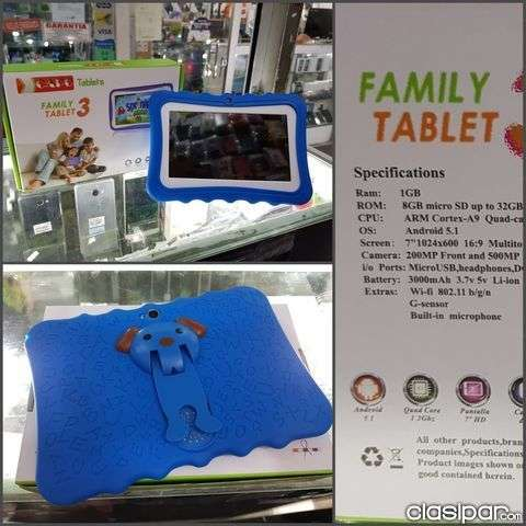 Tablet Family wifi protector y memoria adicional 8 gb - 0