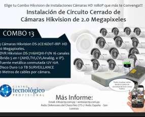 Instalación de Circuito Cerrado de Cámaras Hikvision de 2.0 Megapixeles Combo 13