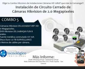 Instalación de Circuito Cerrado de Cámaras Hikvision de 2.0 Megapixeles Combo 5