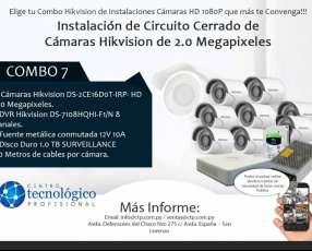 Instalación de Circuito Cerrado de Cámaras Hikvision de 2.0 Megapixeles Combo 7