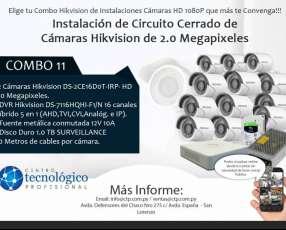Instalación de Circuito Cerrado de Cámaras Hikvision de 2.0 Megapixeles Combo 11