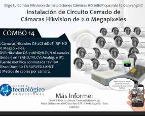 Instalación de Circuito Cerrado de Cámaras Hikvision de 2.0 Megapixeles Combo 14