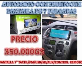 Auto radio con pantalla tactil usb bluetooth