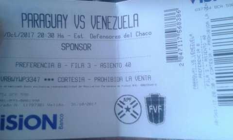 Entrada Paraguay vs Venezuela
