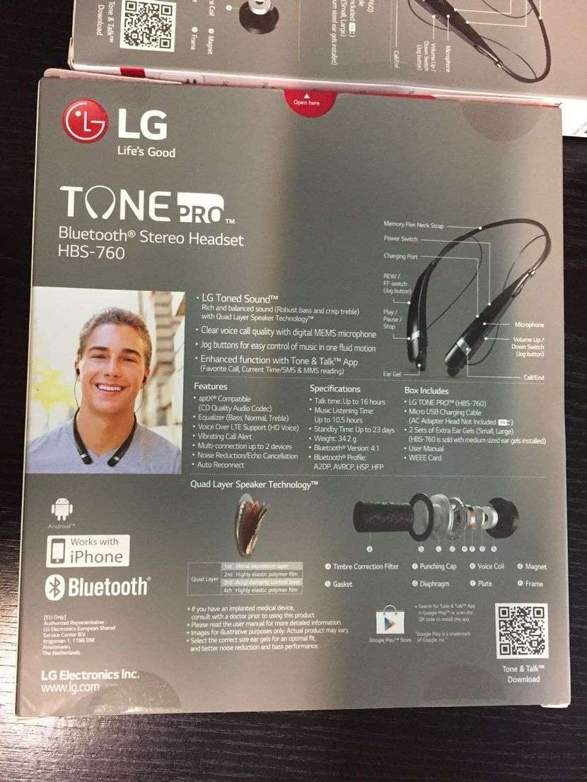 Auriculares LG HBS - 760 Bluetooth