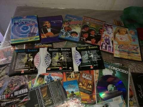 Colección de dvd y músicas