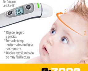 Termómetro infrarrojo oído y frente para bebés