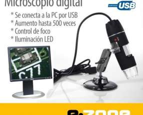 Microscopio digital USB Zoom 500X con LED