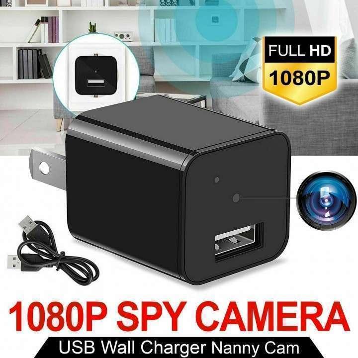 Mini cámara espía y cargador usb - 0