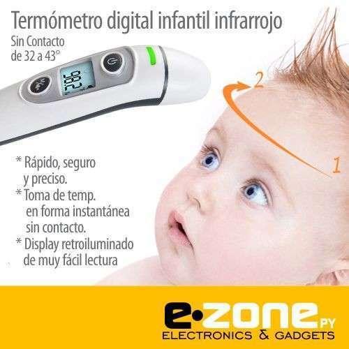 Termómetro infrarrojo oído y frente bebés - 0