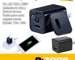 Mini cámara espía y cargador usb