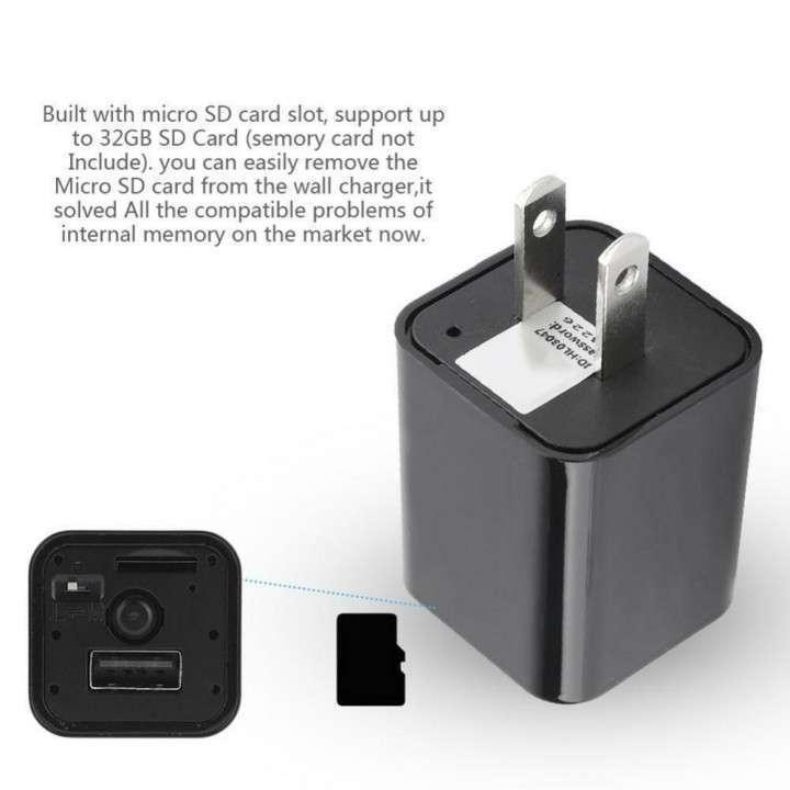 Mini cámara espía y cargador usb - 3