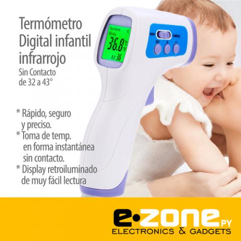 Termómetro infrarrojo SIN CONTACTO Niños y adultos / ezone.com.py