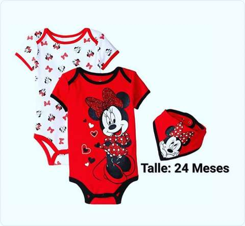 Body Minnie Mouse Rojo 24 Meses