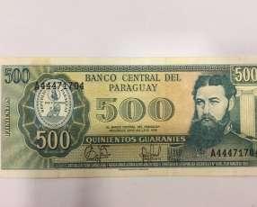 Billete de 500 Guaraníes de colección