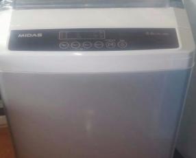 Lavarropas automática Midas inox de 8 kilos