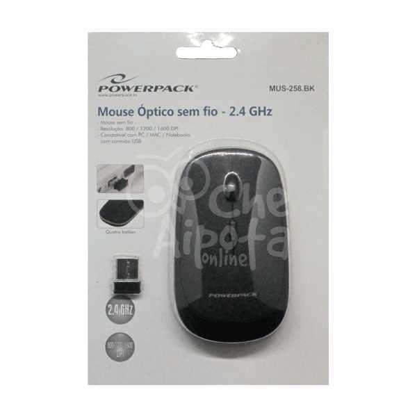 Mouse Óptico Inalámbrico Powerpack MUS-258 - 0