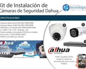 Kit de vigilancia Dahua instalación de 9 cámaras