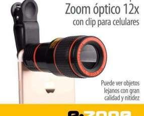 Telescopio zoom óptico 12x y 18x para smartphone