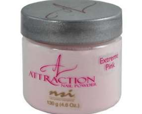 NSI Attraction Nail Powder Extreme Pink 130 g