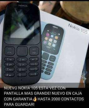 Nokia 105 nuevo en caja y garantía