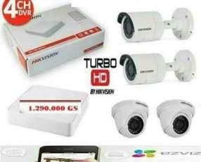 Kit 4 cámaras de seguridad hd