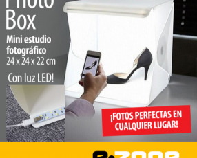 Photo box - mini estudio fotográfico con luz led