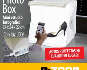 Photo box - mini estudio fotográfico con luz led