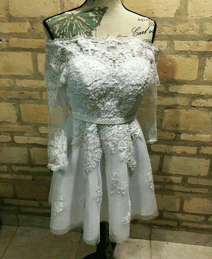 Vestido blanco de alta costura