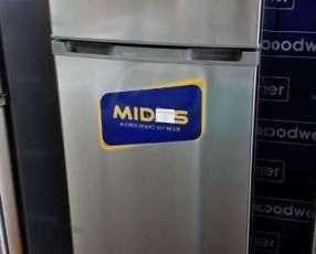 Heladera Midas inoxidable de 351 litros