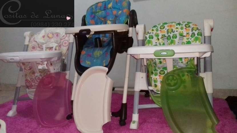 Silla para comer bebé marca Chicco, usada - 5