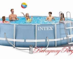 Piscina Intex de 14.614 lts. con tecnología hydro aireación