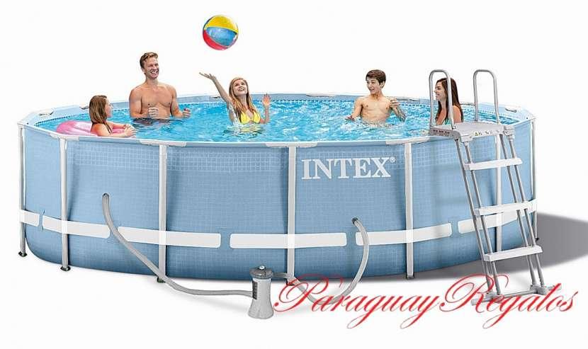 Piscina Intex de 14.614 lts. con tecnología hydro aireación - 0