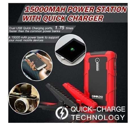 Cargador portátil para batería de vehículo - 1