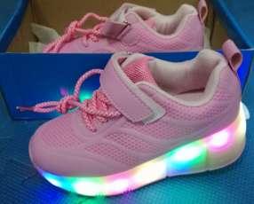 Zapatos con rueditas y luces led