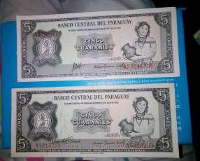Billetes de 5 guaraníes