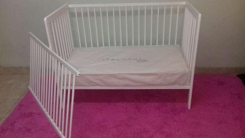 Cuna para bebé desarmable con colchon sommier Zara - 0