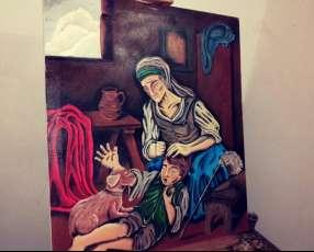 Pintura campestre al oleo