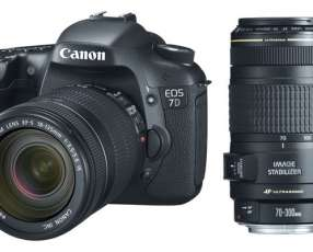 Camara Canon EOS 7D w/ 18-135mm and 70-300mm Lenses